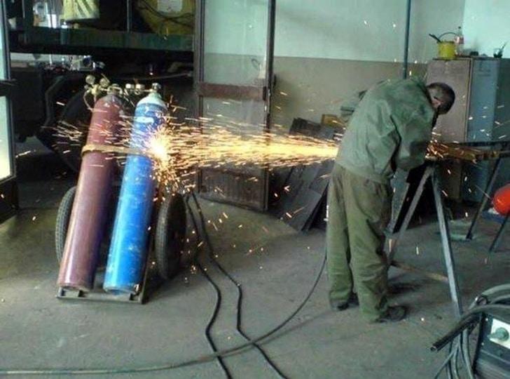 опасная работа с газом