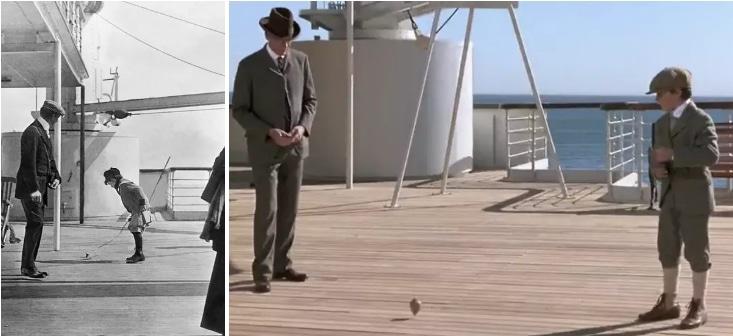 мужчина и мальчик на палубе