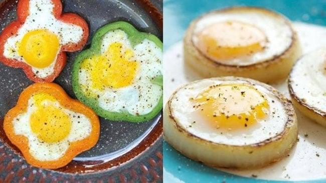 яйца в овощах