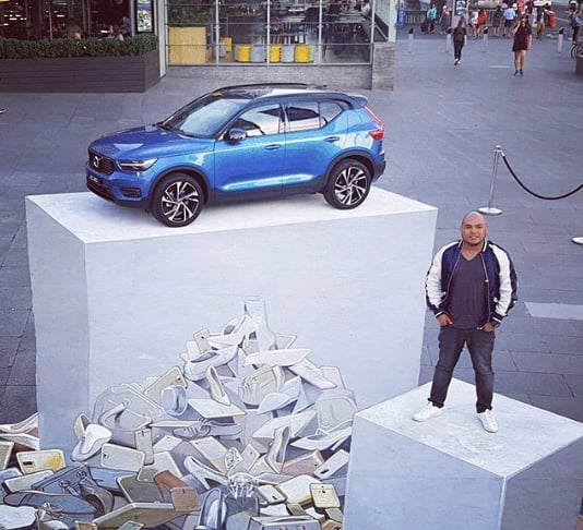 уличный 3D арт машины