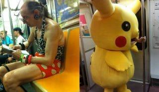 13 самых странных пассажиров, запечатленных в метро:)
