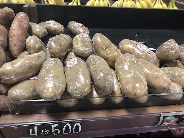 картофель в упаковке