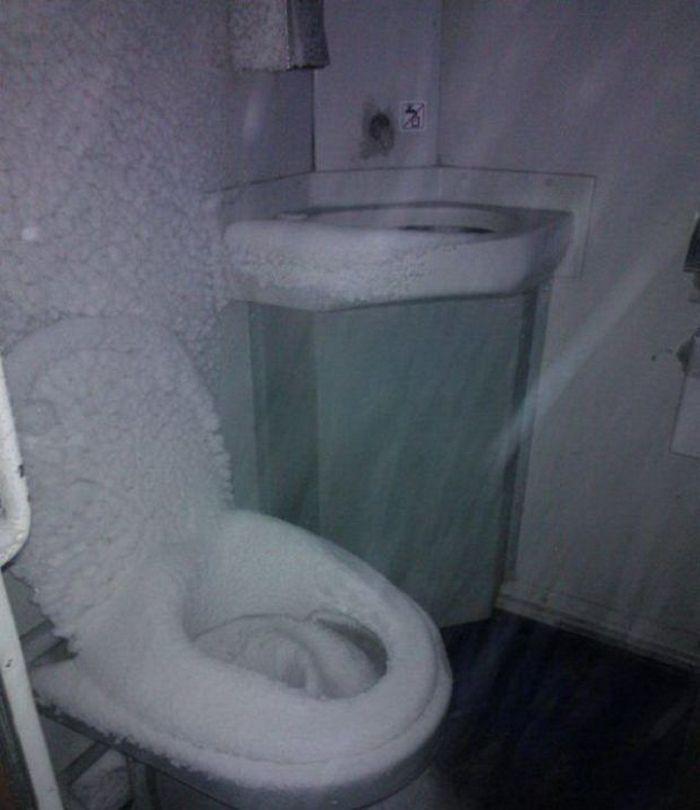 туалет в поезде