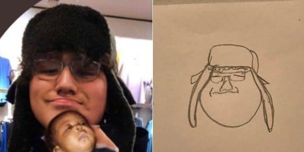 парень в шапке