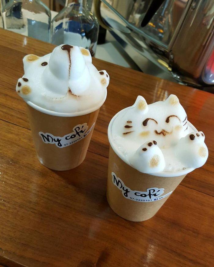 3D кофе