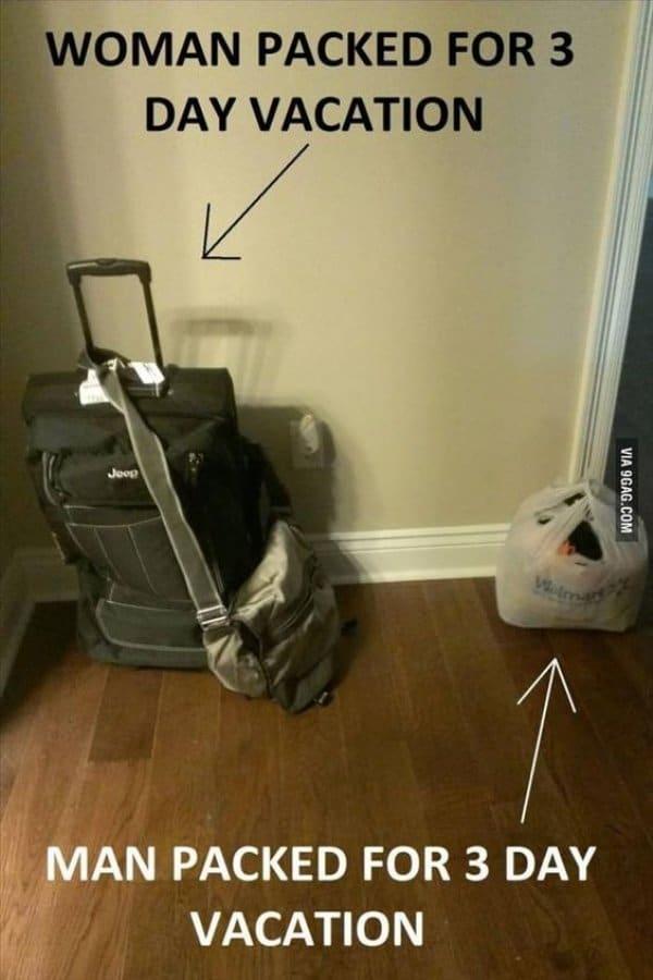 чемодан и пакет