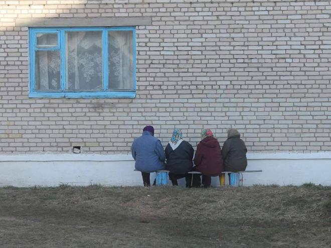 бабушки на скамейке