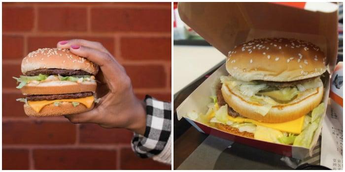 ожидание и реальность: большой бургер