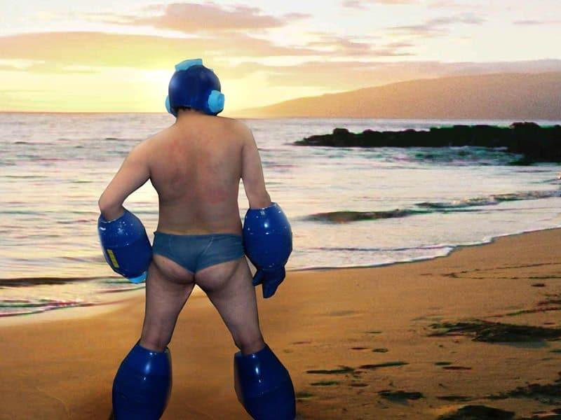 фрик на пляже