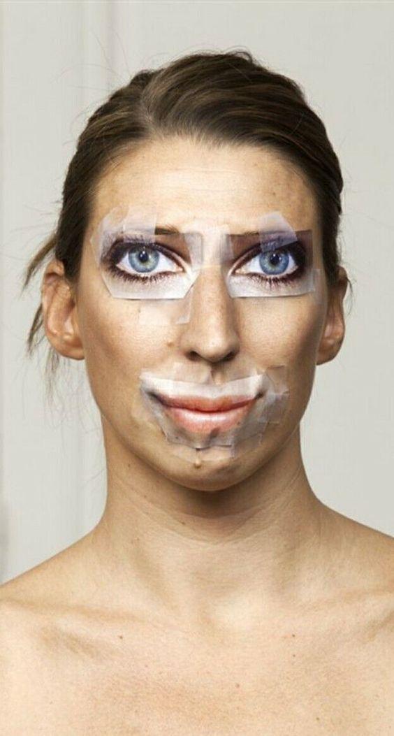 женщина с губами и глазами из журнала