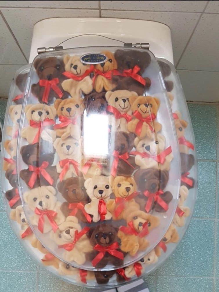 стульчак из мишек для унитаза