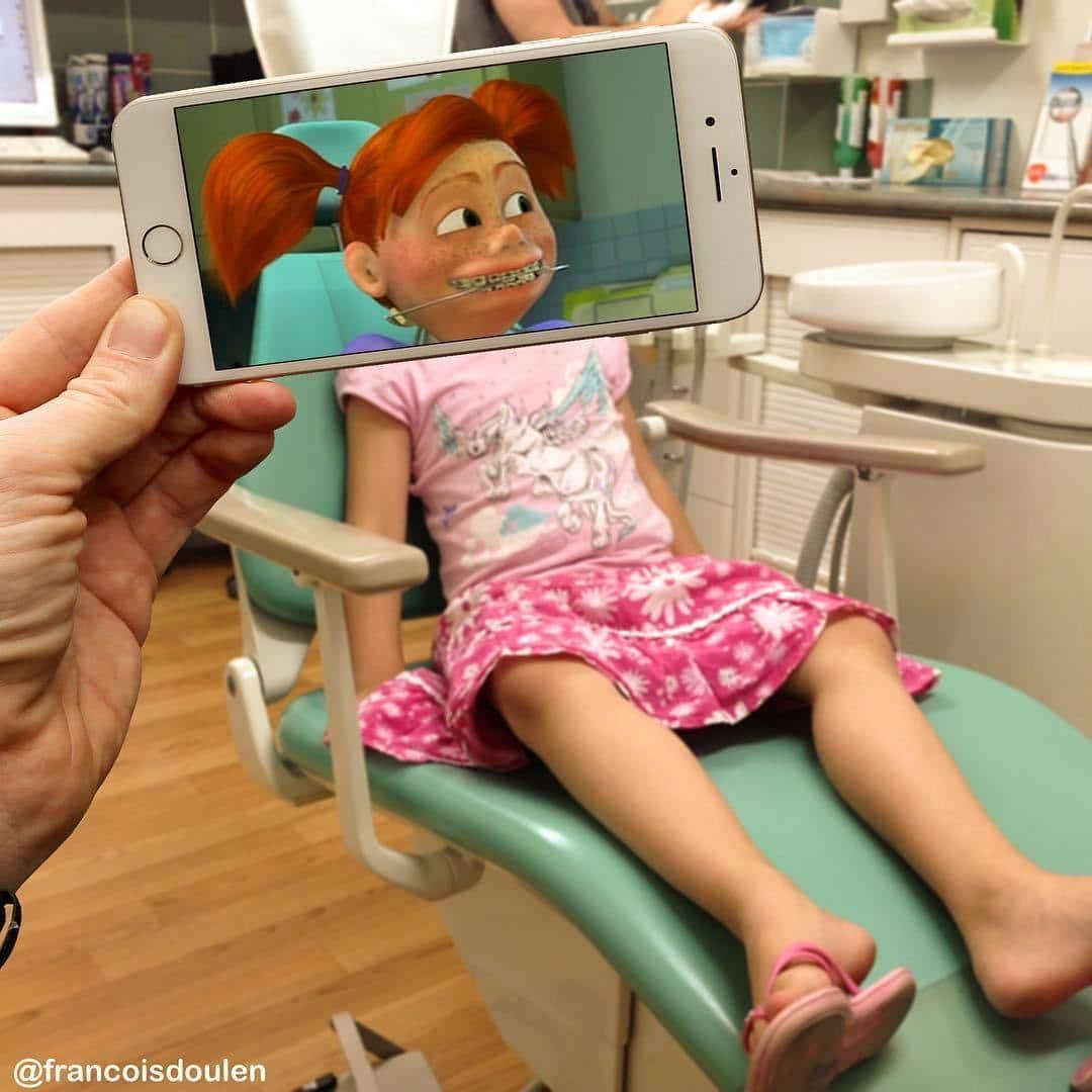 девочка в кресле стоматолога
