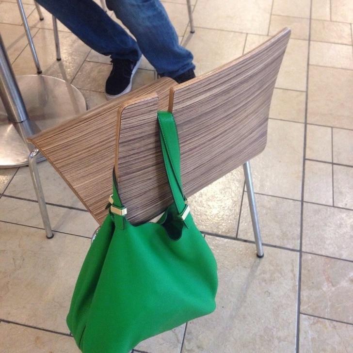 стул с держателем для сумки