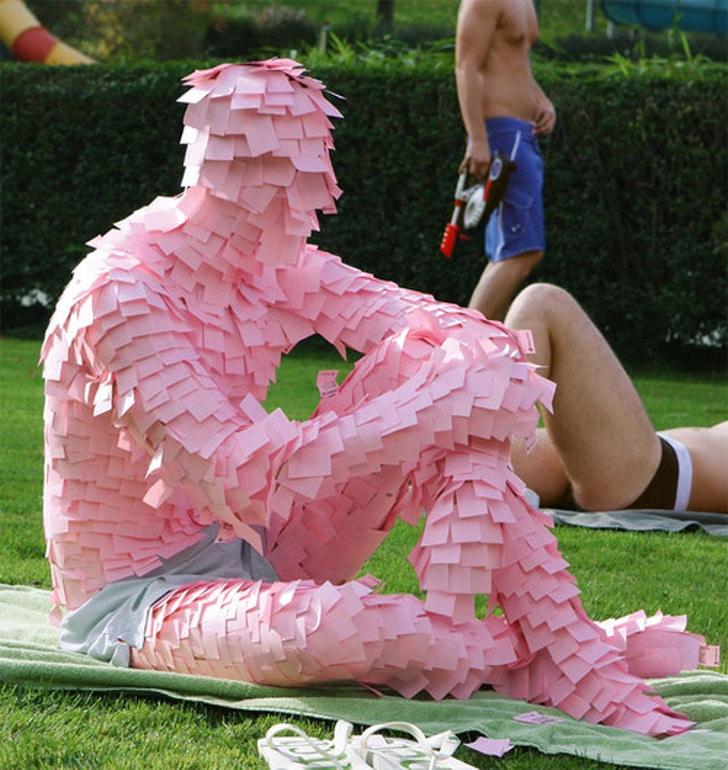 розовые стикеры