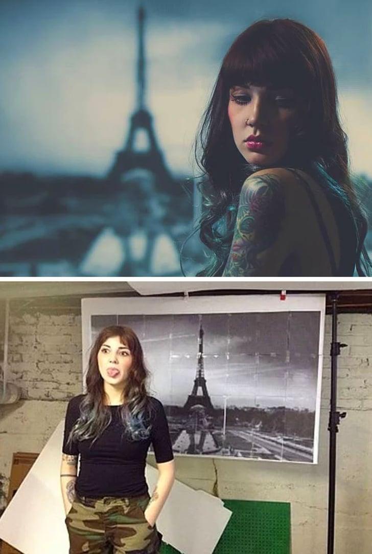 фото на фоне Парижа