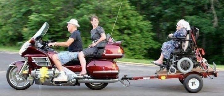 инвалидная коляска на мотоцикле
