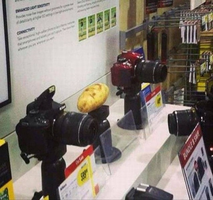картошка в магазине