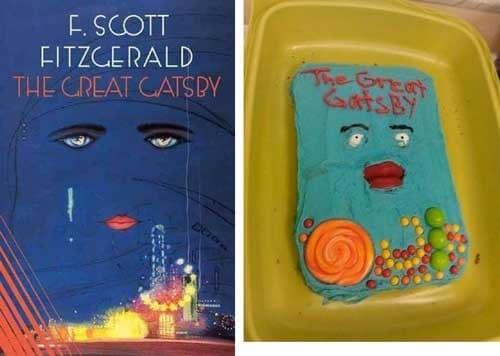 торт в виде обложки книги
