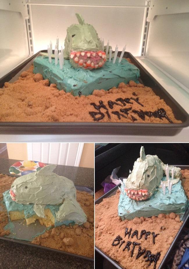 торт в виде акулы