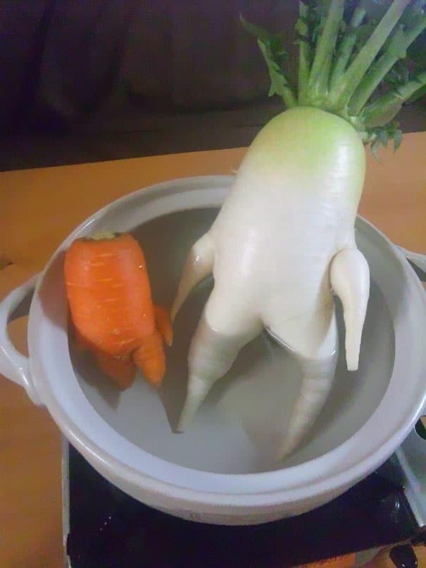 овощи лежат в кастрюле