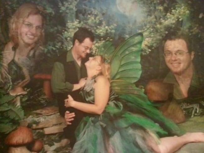 отфотошопленное общее фото пары