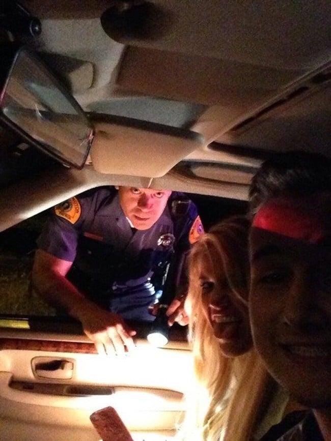 селфи с полицейским