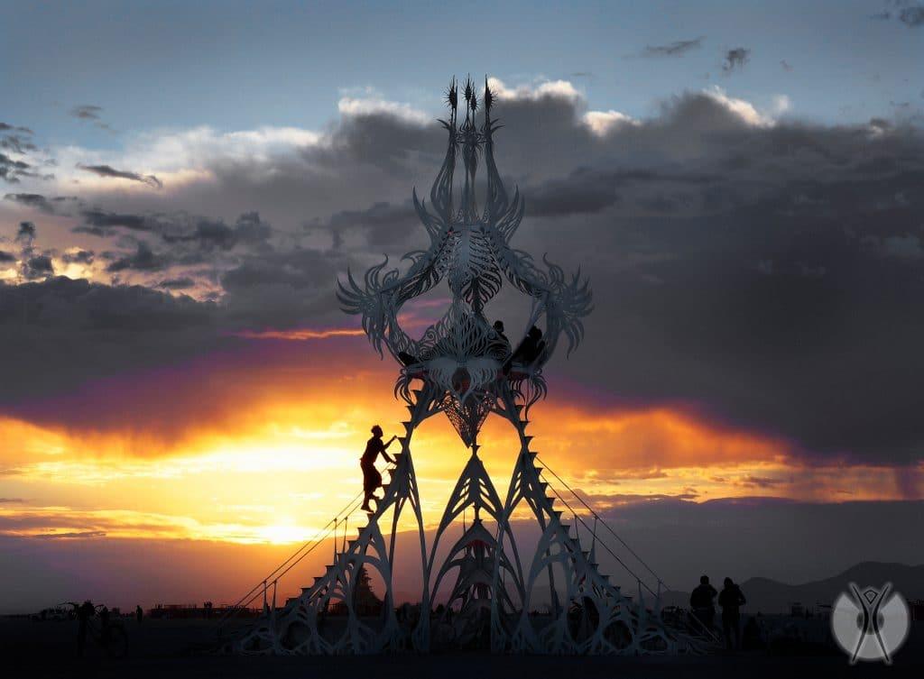 необычные инсталляции на фестивале Burning Man