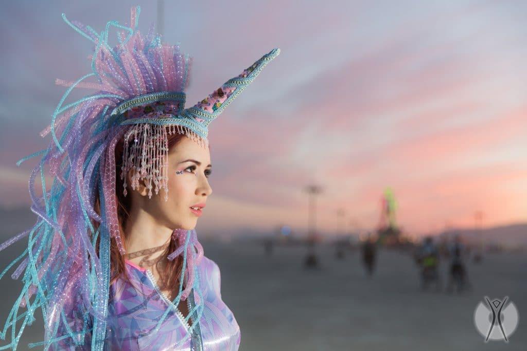 необычные костюмы на фестивале Burning Man