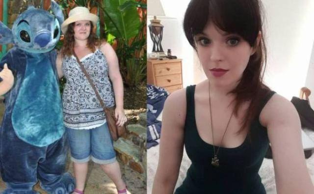 девушка изменилась после диеты