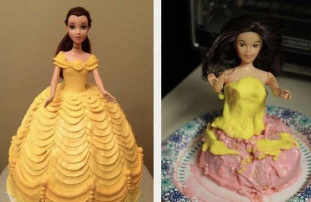 неудачный торт в форме принцессы