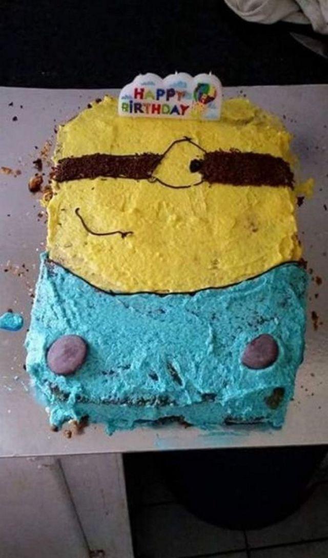 неудачный торт на день рождения