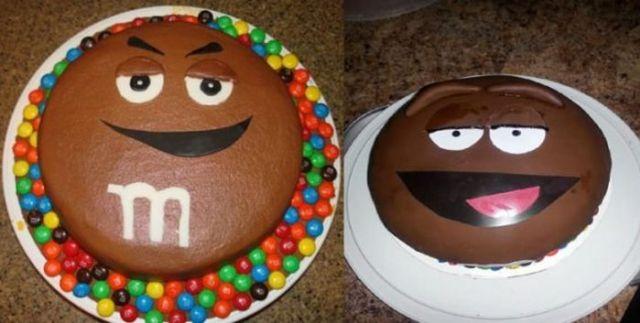 торт в форме M&M's