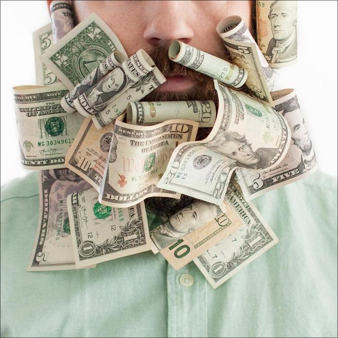 деньги в бороде