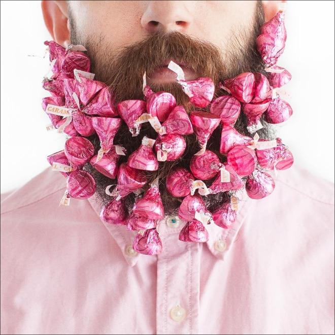 конфеты в бороде