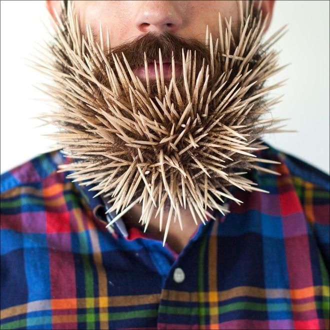 зубочистки в бороде