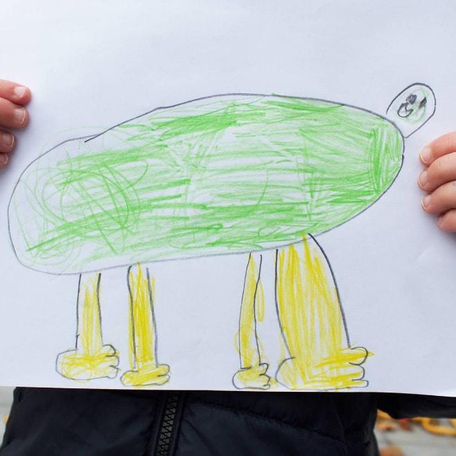 рисунок лягушки