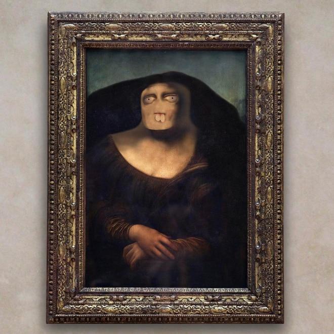 мона лиза фотошоп