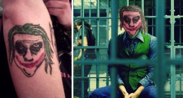 неудачная татуировка Джокера