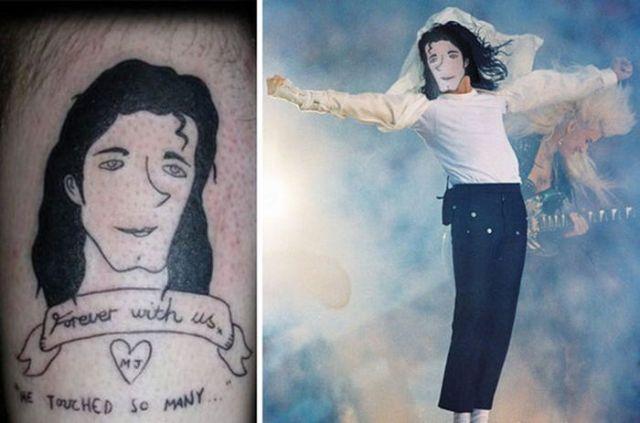 неудачная татуировка Майкла Джексона