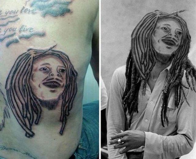неудачная татуировка Боб Марли