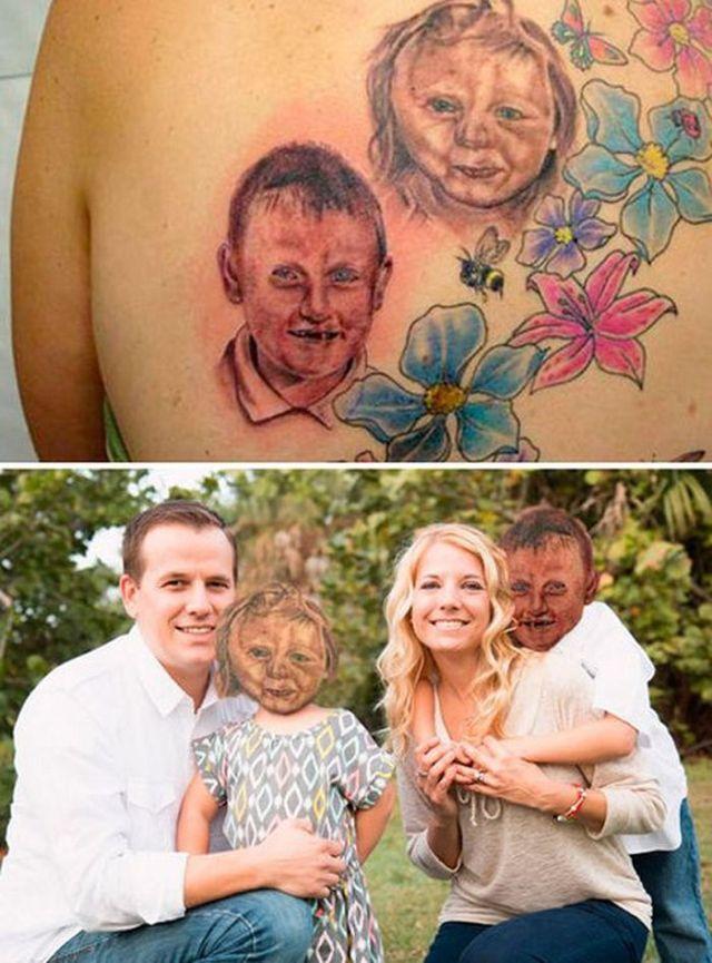 неудачная татуировка дети