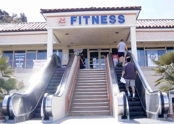 эскалатор перед спортзалом