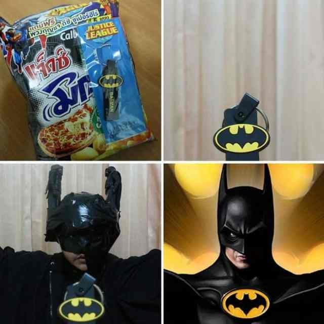 парень перевоплощается в Бэтмена
