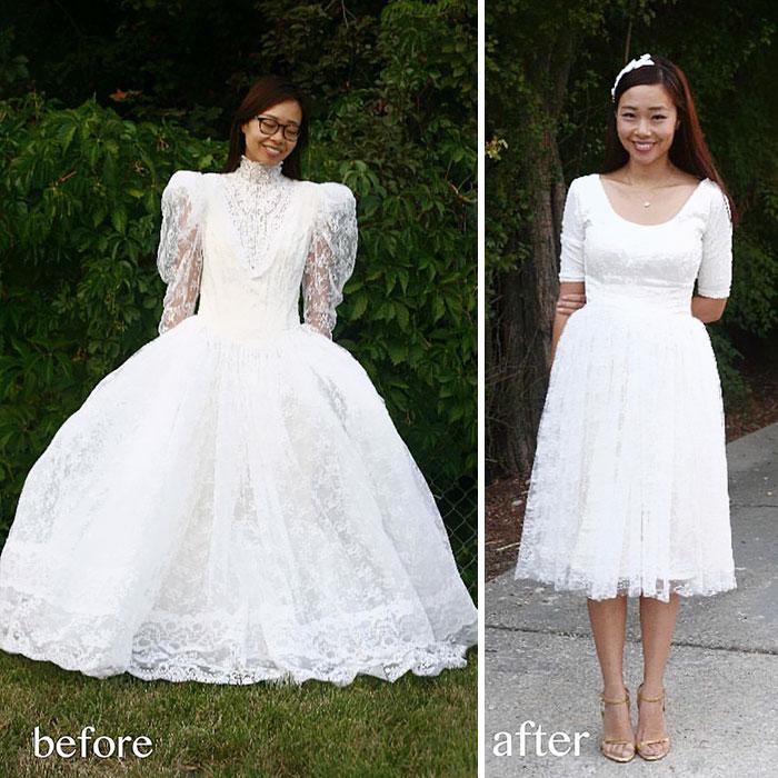 женщина в свадебном платье