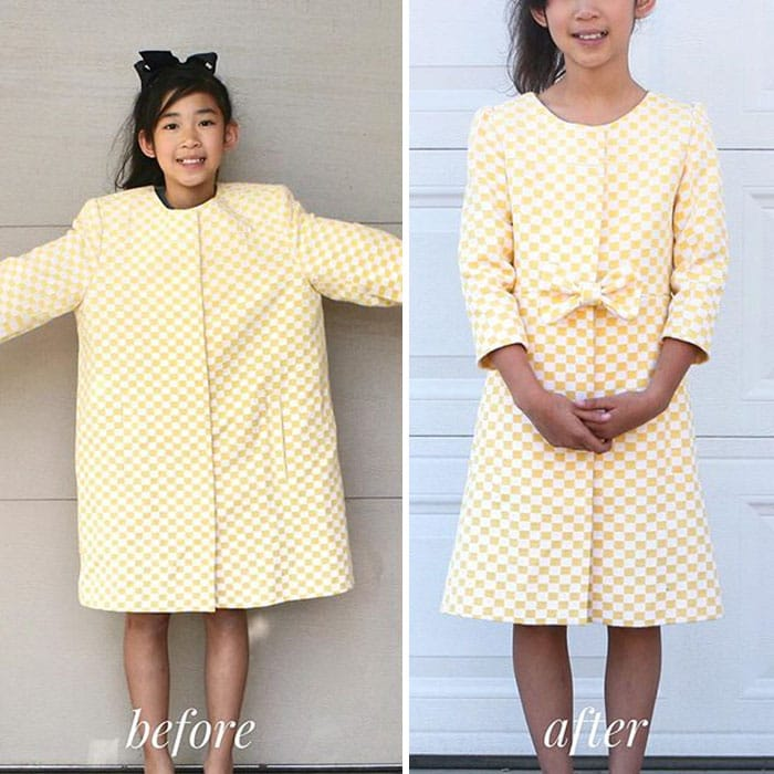 девочка в желтом платье
