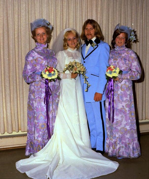 подружки невесты в синих платьях