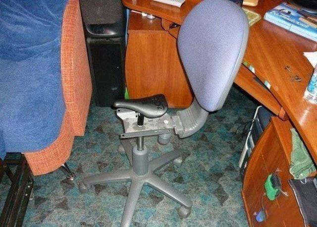 офисное кресло с седлом