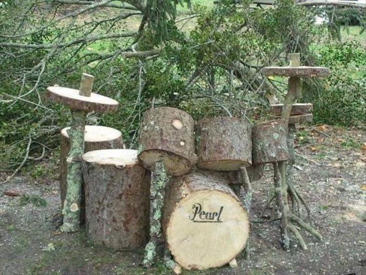 деревянная барабанная установка