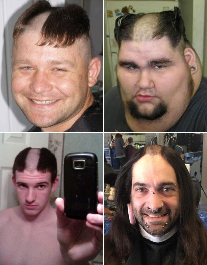 мужчины с выбритыми головами