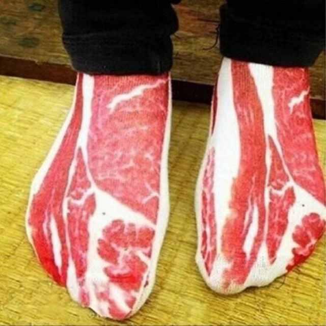 носки в виде мяса